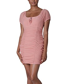 Juniors' Emma Ruched Sheath Dress