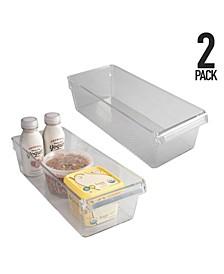 Large Refrigerator Storage Bins, Set of 2