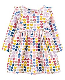 Baby Girls Heart Jersey Dress