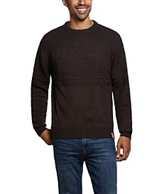 Men's Jacquard Yoke Crew Neck Sweater