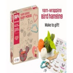 Chalk Chuckles Yarn Birds Baby Mobile Craft Kit