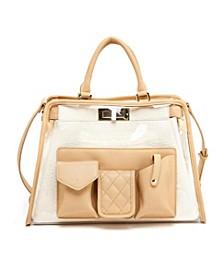 Clear Retro Colorway Handbag