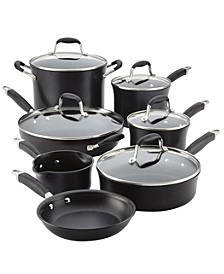 Advanced Onyx Hard Anodized Nonstick 12-Pc. Cookware Set