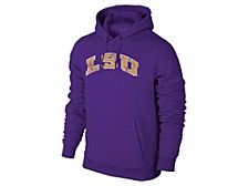 LSU Tigers Men's Screenprint Big Logo Hooded Sweatshirt