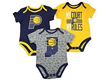 Baby 3-Pk. Indiana Pacers Cotton Trifecta Bodysuits