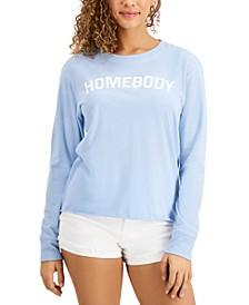 Juniors' Drop-Shoulder Graphic T-Shirt