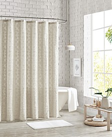 "Clipped Floral Shower Curtain, 72"" x 72"""