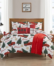 Love in Peace King Comforter Set, 6 Piece