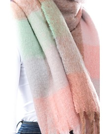Women's Plush Plaid Scarf