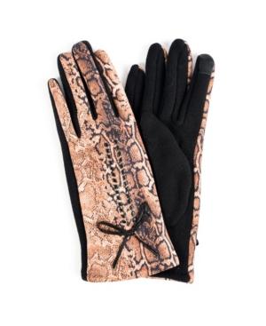 Women's Leopard Jersey Touchscreen Glove