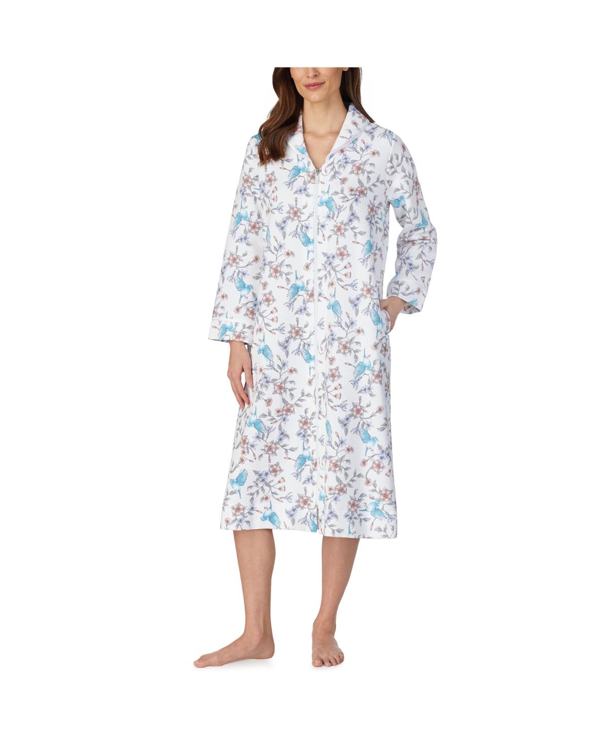 Women's Bal Long Sleeve Zip Front Robe