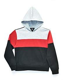 Big Boys Leo Colorblocked Pullover Hoodie, Made For Macy's