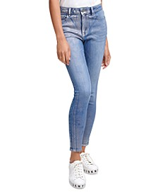 Metallic-Printed Skinny Jeans