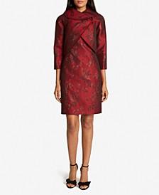 Wrap Jacket Jacquard Dress Suit