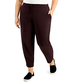 Plus Size Slouchy Ankle Pants