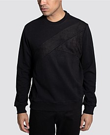 Color Texture Blocked Men's  Sweatshirt