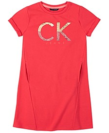 Big Girl CK Flip Sequin Dress