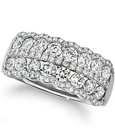 Vanilla Diamond Double Row Cluster Ring (1-5/8 ct. t.w.) in Platinum
