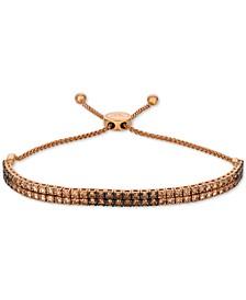 Ombré Chocolate Diamond Bolo Bracelet (3 ct. t.w.) in 14k Rose Gold