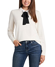 Embellished Collared Sweater