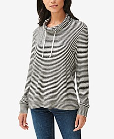 Cowlneck Jersey Pullover Top
