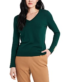 Clara V-Neck Sweater, Created For Macy's