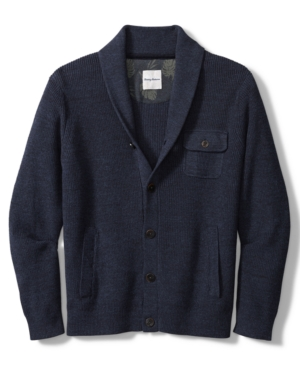Men's Vintage Sweaters History Tommy Bahama Mens Sea Captain Cardigan Sweater $228.00 AT vintagedancer.com