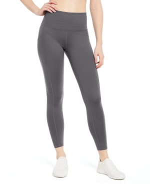 High-Waist Side-Pocket 7/8 Length Leggings