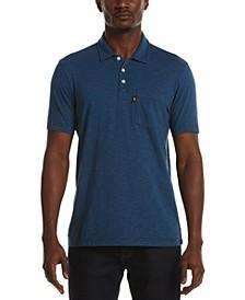 Men's Slub Feeder Striped Polo Shirt