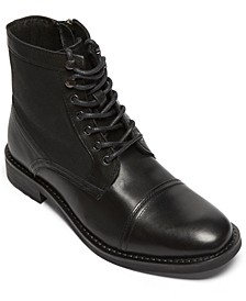 Men's Lace-Up Cap-Toe Boots