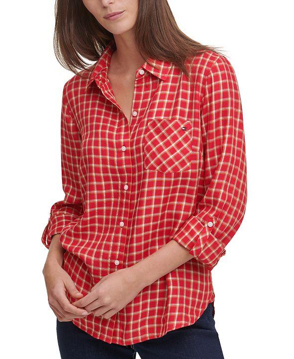Tommy Hilfiger Windowpane-Print Shirt