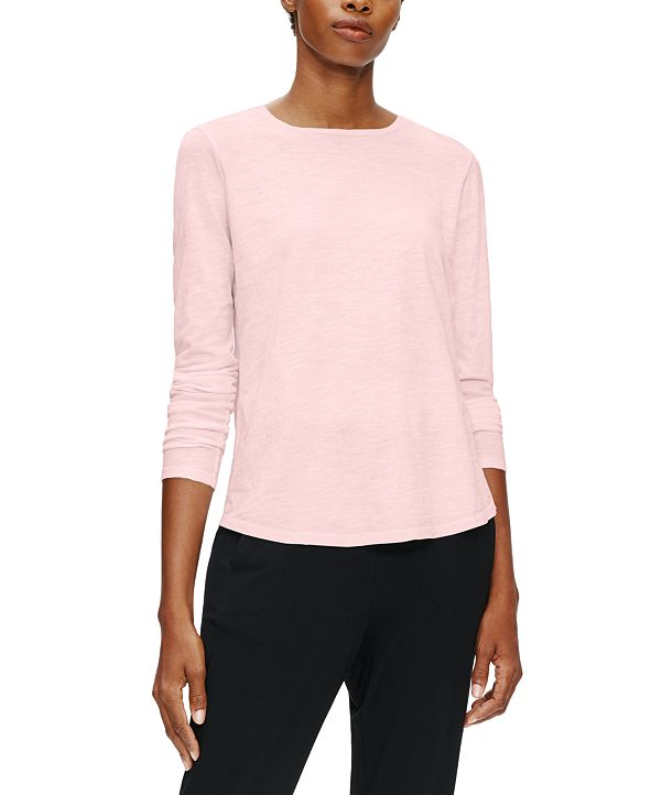 Eileen Fisher Organic Cotton Round-Neck Top