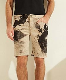 Acid Wash Slim Denim Shorts