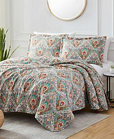 Georgetown Monaco 3-Piece Reversible Quilt Set, Queen