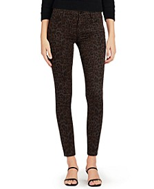 Icon Animal-Print Ankle Skinny Jeans