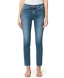 Lara Ripped-Hem Skinny Jeans