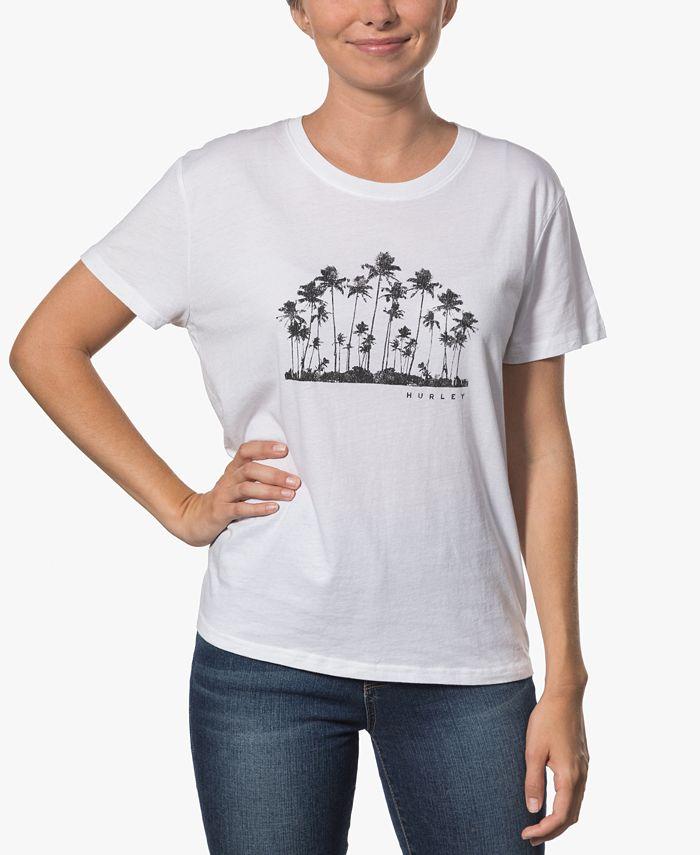 Hurley - Juniors' Cotton Graphic Boyfriend T-Shirt