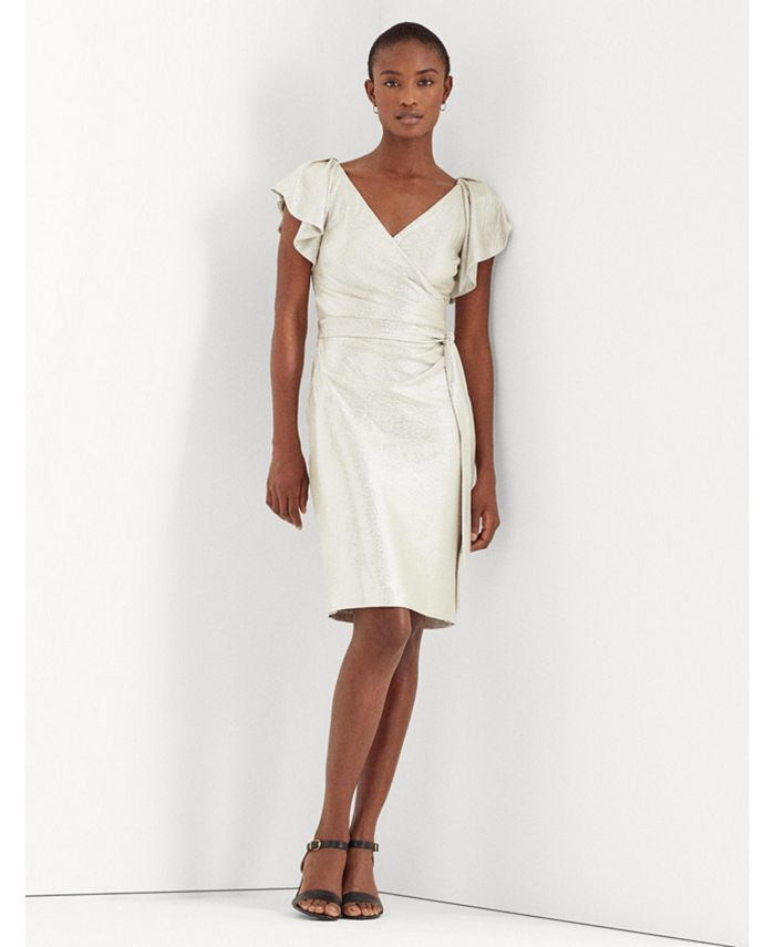 Lauren Ralph Lauren - Metallic Surplice Dress