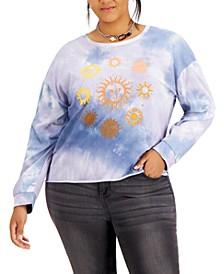 Trendy Plus Size Cotton Tie-Dyed T-Shirt