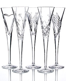 Crystal Gifts, Wishes Toasting Flutes Collection