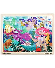 Kids Toy, Mermaid Fantasea 48-Piece Wooden Jigsaw Puzzle