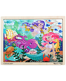 Melissa and Doug Kids Toy, Mermaid Fantasea 48-Piece Wooden Jigsaw Puzzle