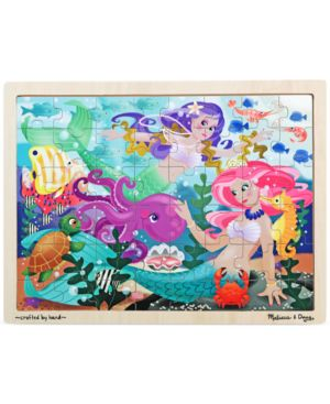 Melissa and Doug Kids Toy, Mermaid Fantasea 48-Piece Wooden Jigsaw Puzzle 1130380