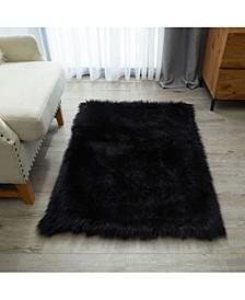 "Enrica Sheepskin Faux Fur Shaggy Accent Rug, 46"" x 30"""