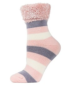 Multi Stripe Plush Women's Cabin Socks