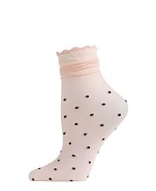 Polka Dot Ruffle Women's Anklet Socks