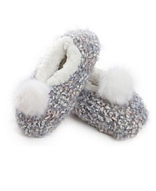 Women's Plush Lined Knit Slippers