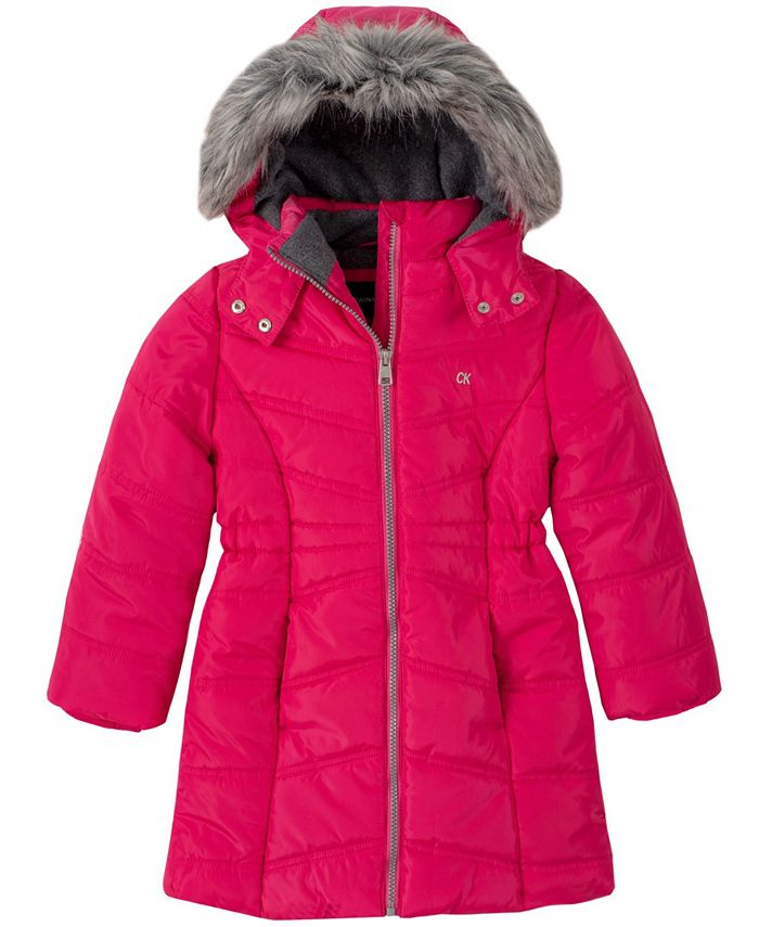 Calvin Klein - Little Girls Aerial Hooded Jacket