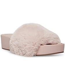 Women's Randela Faux-Fur Flatform Slides