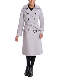 Double-Breasted Hooded Trench Coat